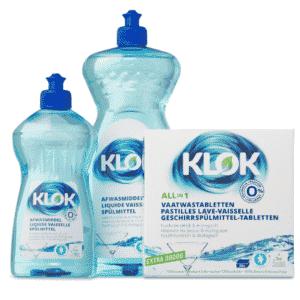 klok eco wasmiddel en eco tabletten voor vaatwas